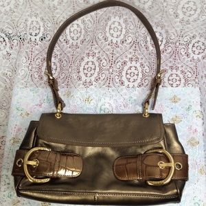 Gold Bronze Shoulder Bag